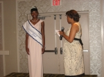 Board Member Trish Brooker introducing Miss Loren Boyd, Miss HJTTI Delaware 2007