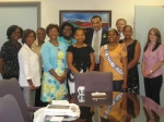 Dietra Hunter, Miss HJTTI DE, and Mayor Baker along with HJTTI Board Members and the Mayor's staff.
