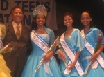 Mr. Hal Jackson with winner (Miss GA), 1st Runner Up & 2nd Runner Up (Nadjah, Miss DE)